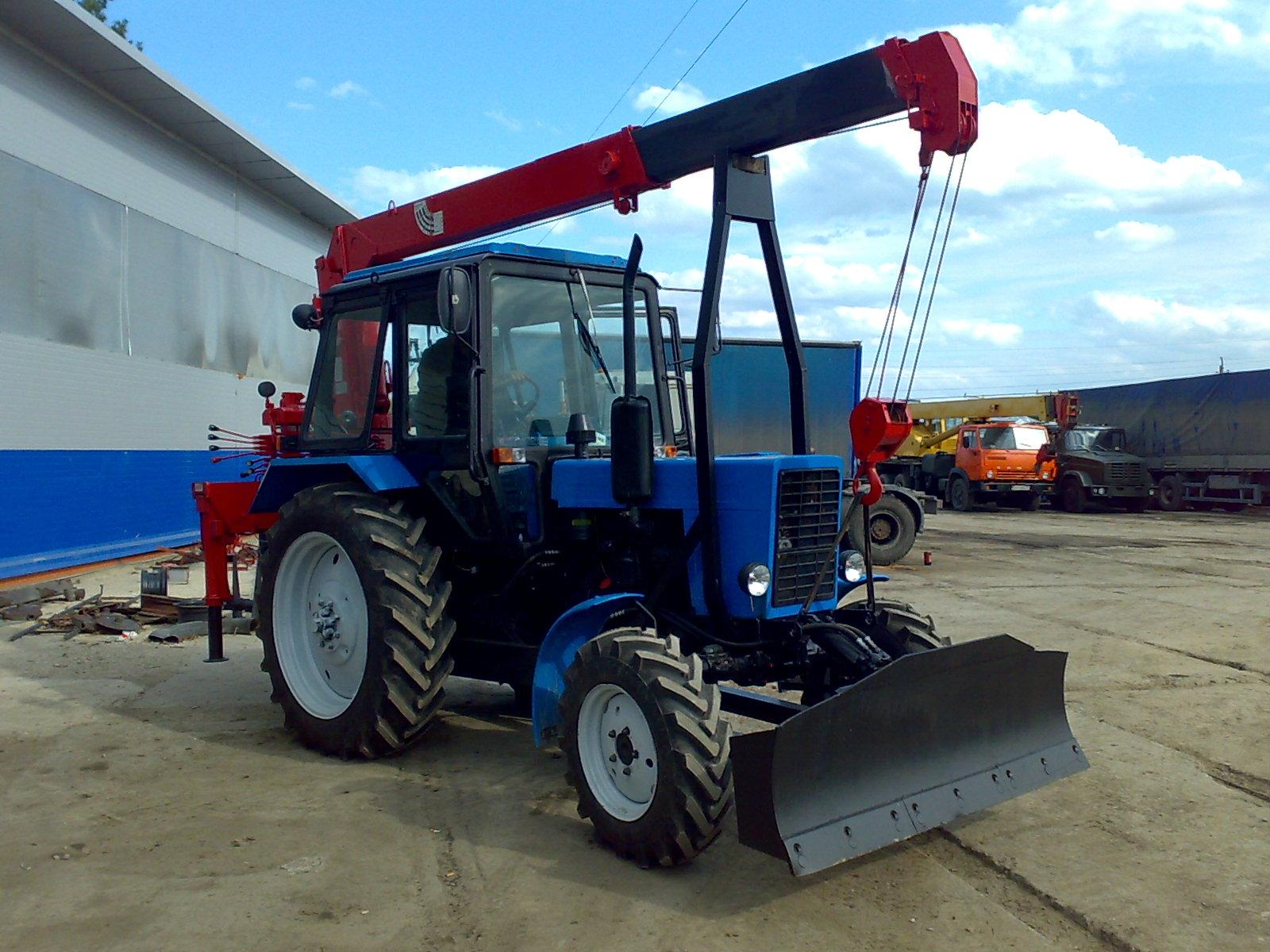 Кран для трактора